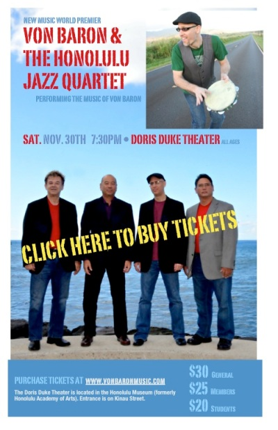 November 30, 2013 Von Baron Show Website Poster